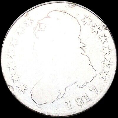 1817 Capped Bust Half Dollar NICELY CIRCULATED Philadelphia High End 50c Silver!