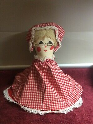 Vintage Topsy Turvy Doll 3 Parts Little Red Riding Hood Grandma The Wolf Plush