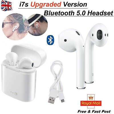 I7S TWS 5 Bluetooth Earphones Headphones Wireless Earbuds new Box for Any Device