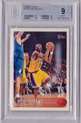 Kobe Bryant Rookie Card BGS 9 MINT 1996-97 Topps #138 RC Los Angeles Lakers