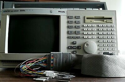 Fluke Phillip PM3585 200MHz Logic Analyzer With Configured Disk and Cable inputs