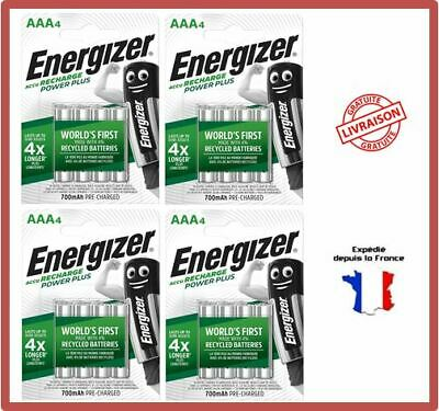 Piles Rechargeables AAA HR03 700 mAh 1,2V NiMH Energizer Power Plus Accus X12