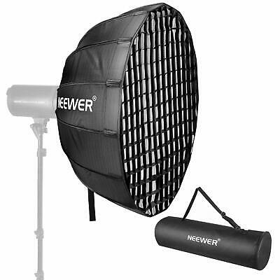 Neewer 25 Inches Hexadecagon Collapsible Silver Beauty Dish with Bowens Mount,