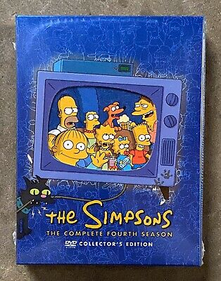 The Simpsons - Complete Fourth Season 4 (DVD, Collector's Edition) New/Sealed