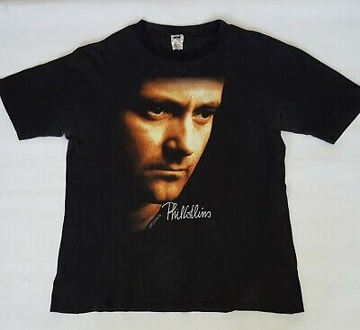 Vintage PHIL COLLINS ...But Seriously World Tour 1990 T-Shirt Tee Acme L