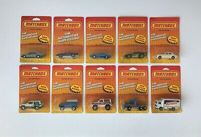 Lot of 10 ct. 1986 Matchbox Cars - Mint on Card MOC – Old Store Stock Find NOS