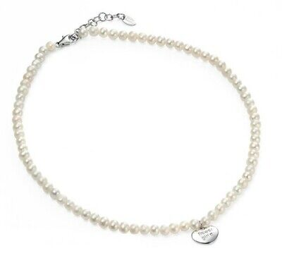 Flower Girl, Sterling Silver & Fresh Water Pearl  Diamond Necklace