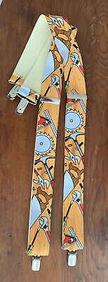 Carpentry Print Tools BOYS' Youth Suspenders Braces Clip Adjustable ages 4-8