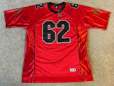 Bacardi Rum Promotional Football Jersey #62 Red V-Neck