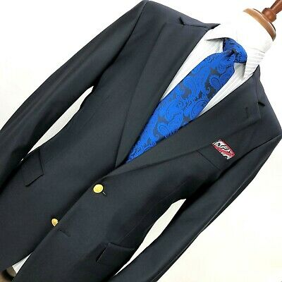 Brooks Brothers Loro Piana Recent Mens 40L Navy Blue Blazer 100% Wool
