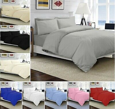 COT White 200 TC Duvet 100/% Egyptian Cotton Quilt Cover Bedding Set Cot Bed Size