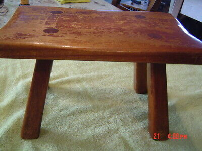Antique Vintage Cushman Maple Foot Stool  #9038