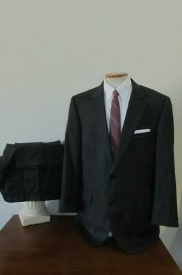 JOS A BANK SIGNATURE COLL 2 BTN WOOL SUIT 46R 36x33 Char Gray