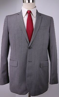 Burberry London Gray Side Vented Wool 2 Button Suit 40 Regular Slim 35 32 Flat