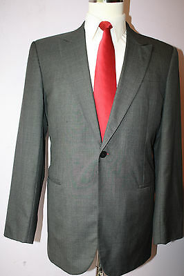 Giorgio Armani Black Label Gray Wool Silk One Button Sport Coat 42 R Blazer