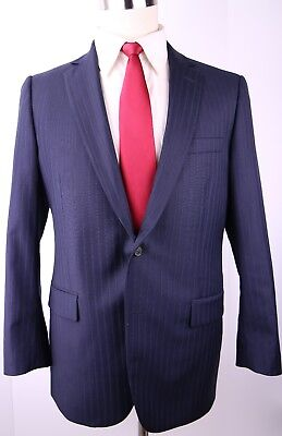 Brooks Brothers Fitzgerald Blue Two Button Wool Suit 41 Regular 34 29 Flat 41R