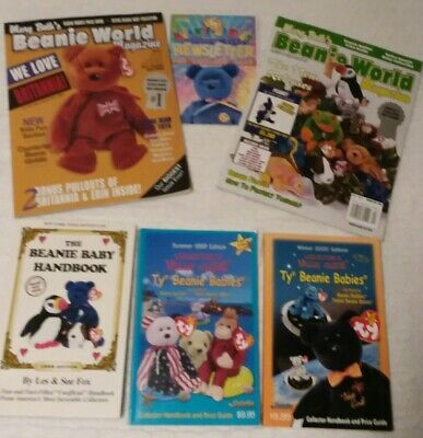 Lot Of 1999,2000 Collector Value Guides TY Beanie Babies Beanie World Magazines+