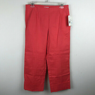 NEW Liz Claiborne Womens Coral Cropped Crop Capri Pants Michaela Have to Have 6