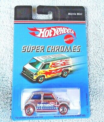 Hot Wheels Super Chromes Morris Mini Cooper  w//Redlines