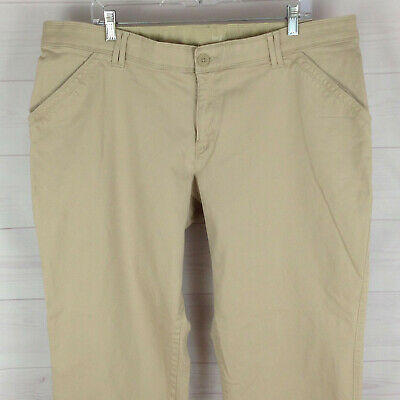 Lee Sinfully Soft womens size 22W x 29.5 stretch beige flat front relaxed pants