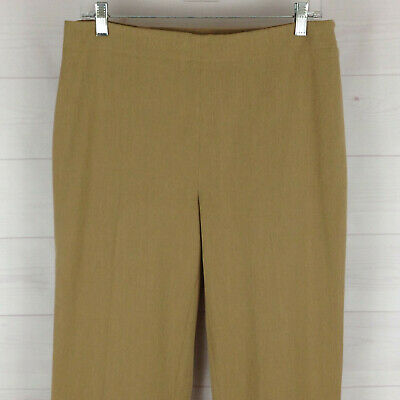 TALBOTS womens size 10 x 29.5 stretch solid beige classic slim career pants EUC