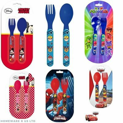 Childrens Disney Cutlery Set Plastic Dinner Plates (13.5 Cm) Forks Spoons