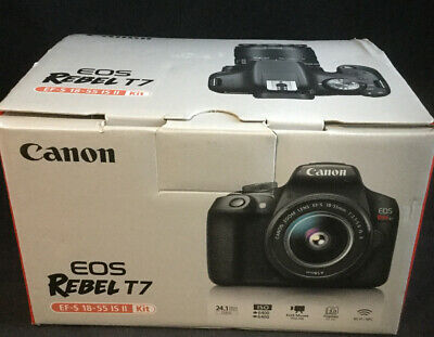 Canon EOS Rebel T7 24.1 MP Digital SLR Camera - Black (Kit with 18-55 Lens)#8341