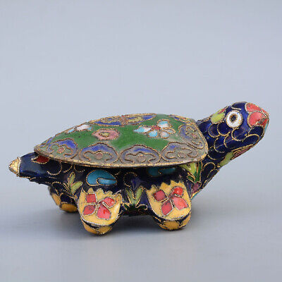 China Exquisite Collectible Handwork Painting Cloisonne pig Statue