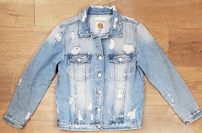 Zara Girls Size 13/14 Denim Jean Jacket Looney Tunes Bugs Bunny Distressed