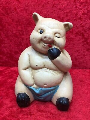 "Awesome Ceramic Pig Coin Bank Piggy Bank 5-1/2"" Tall"