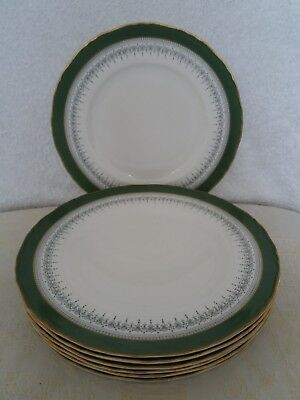 "1 x ROYAL WORCESTER REGENCY GREEN DINNER PLATE (10.5"" inches) (8 Available)"