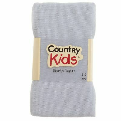 Country Kids Silver Sparkly Tights  3-5 Years