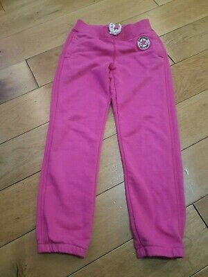 Converse All Star Girls Jogging Bottoms Joggers Pink Age 6-7 Years 116-122Cm