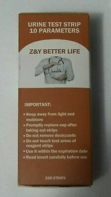 Z & Y Urine test strips 10 Parameters NEW Not opened 100 strips health test
