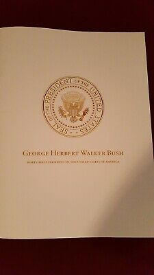 President George H.W. Bush Funeral Program From National Cathedral Washington DC