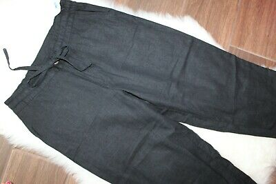 Basic Editions Black Capri Cropped Pants Pull on Elastic Waist Small