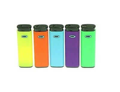 MK JET BLACK TORCH 5 Ct Big Size Lighters Refillable Windproof Colorful Lighter