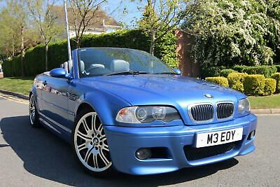 Bmw M3 E46 Convertible In Estoril Blue With Grey Leather Fsh