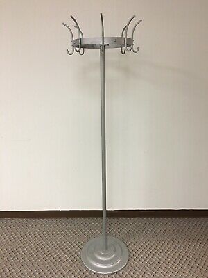 Antique Vintage Circular Coat Hat Rack Tree Stand Heavy Sturdy Diner Style