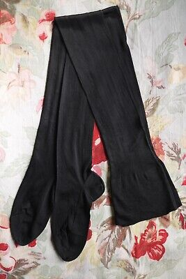 Vintage 20s 30s sheer black artificial silk rayon seamed stockings