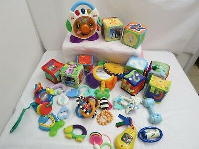 Lot Of Baby Infant Toys Soft Blocks Crib Stroller Toys Great Names