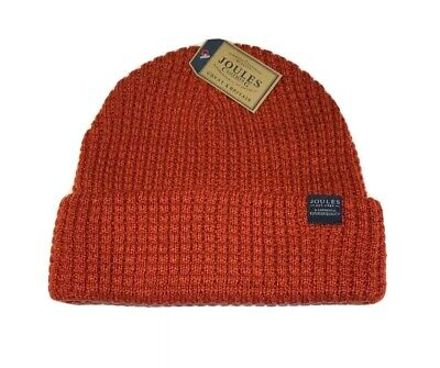 Joules Mens Bamburgh Knitted Hat - SOFT RED New With Tags
