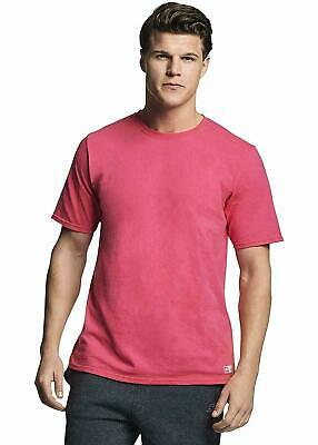 Russell Athletic Men's Cotton Performance Short Sleeve T-Shirt Watermelon Pink L