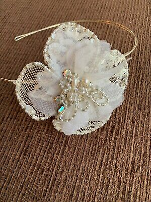 Cream Lace Hair Accessory Facinator / Wedding Event