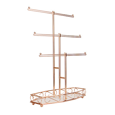 Beautify Gold Jewelry Tree Hanger Display Stand For Earrings Necklace Bracelet 27 99 Picclick