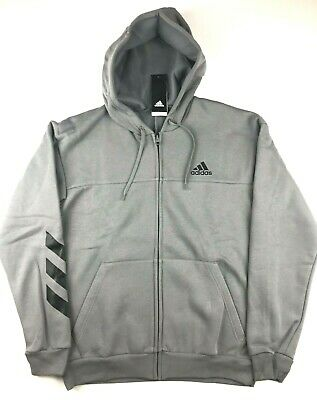 NEW NWT ADIDAS BLACK CURATED FULL ZIP TREFOIL LOGO MEN SIZE SMALL S  br2071
