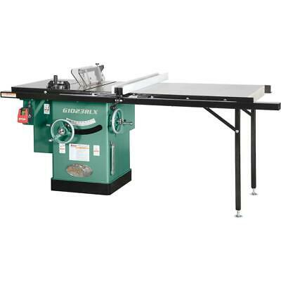 """Grizzly G1023RLX 10"""" 3 HP 240V Cabinet Table Saw with Extension Table"""