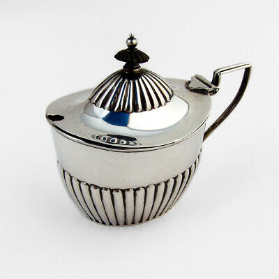 Fluted Mustard Pot Glass Liner Gorham Sterling Silver