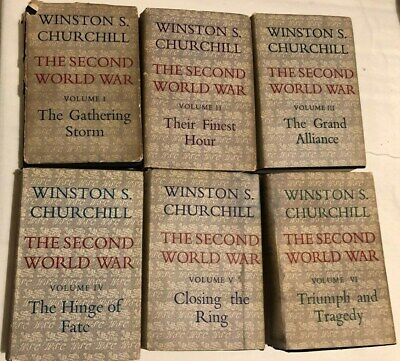 The Second World War By Winston S Churchill 6 Vol By Cassell 1St Editions