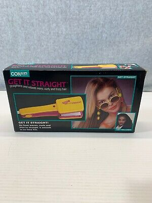 New Rare Vintage Retro 1992 Conair Get It Straight Straightener Flat Iron SI-1